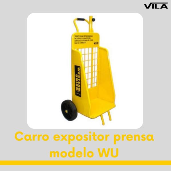 Carro expositor prensa modelo WU