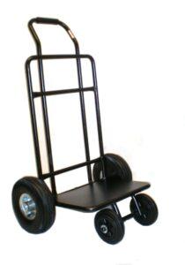 Carro de reparto publicitario con rueda neumática