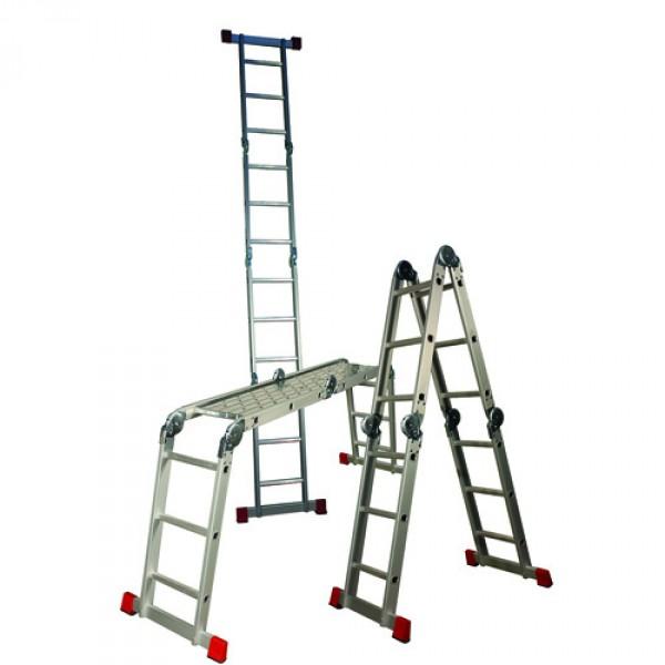 escalera articulada multiusos de aluminio