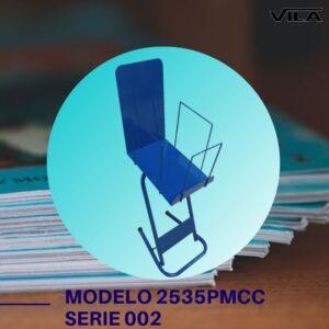 Expositor revista, expositor para negocio, expositor tienda, expositor para comercio, expositor revistas, modelo 2535PMC Serie 002