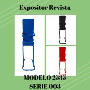 Expositor revista, expositor para negocio, expositor tienda, expositor revistas, modelo 2535 Serie 003