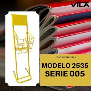 Expositor revista, expositor para negocio, expositor tienda, expositor revistas, modelo 2535 Serie 005