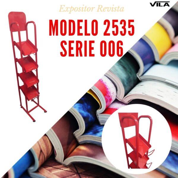 Expositor revista, expositor para negocio, expositor tienda, expositor revistas, modelo 2535 Serie 007