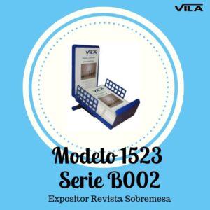 Expositor revista, expositor para negocio, expositor tienda, expositor revistas, Expositor revista sobremesa Modelo 1523 Serie B002