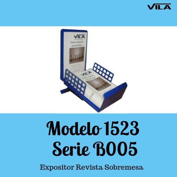 Expositor revista, expositor para negocio, expositor tienda, expositor revistas, Expositor revista sobremesa Modelo 1523 serie b005