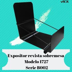 Expositor revista, expositor para negocio, expositor tienda, expositor revistas, Expositor revista sobremesa Modelo 1727 serie b002