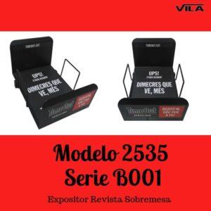 Expositor revista, expositor para negocio, expositor tienda, expositor revistas, Expositor revista sobremesa Modelo 2535 serie b001