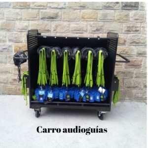 Carro audioguías, VILA Audio Guide & Headphone - Return Rack