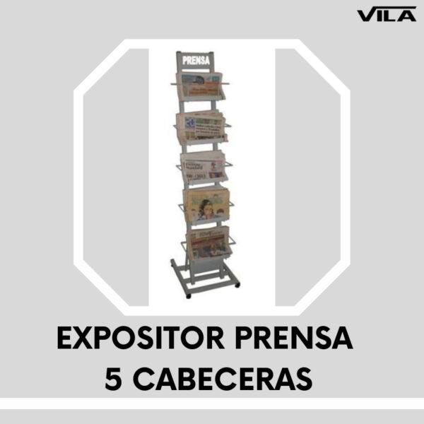 EXPOSITOR PRENSA 5 CABECERAS
