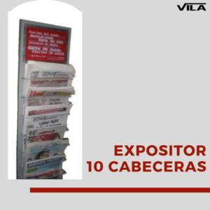 Expositor prensa para 10 cabeceras