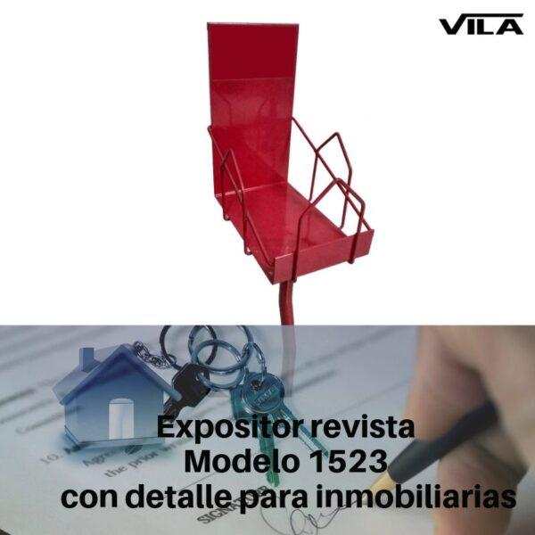 Expositor revista modelo 1523 con detalle para inmobiliarias