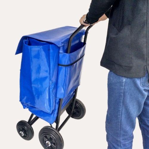 carro-vending, bolsa con bolsillos, bolsa pvc, bolsas pvc, comprar carro, comprar carro compra, carro con bolsa