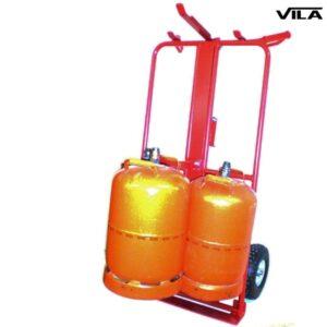 Carretilla transporte de seis bombonas de butano
