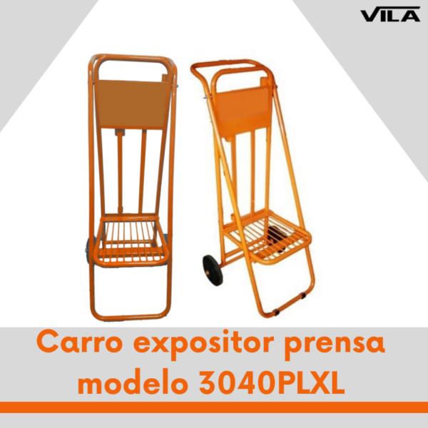Carro expositor prensa modelo 3040PLXL