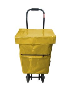 Carro reparto publicitario mediano con bolsa amarilla