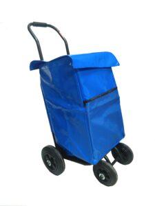 Carro reparto revistas con bolsa color azul