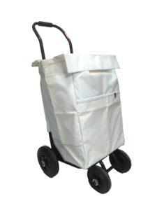 Carros para el reparto publicitario mediano con bolsa blanca