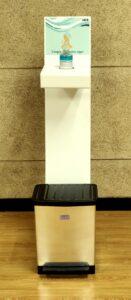 Hela Dispensador de pie para gel y punto de higiene