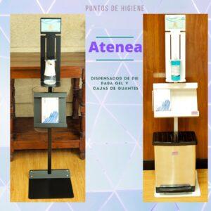 Atenea - dispensador de pie, tu punto de higiene