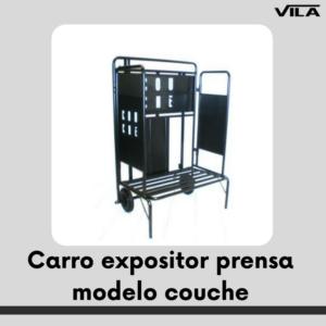 Carro expositor prensa modelo couche