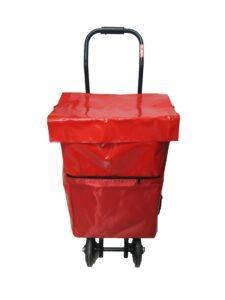 bolsa carro reparto publicidad mediano color rojo