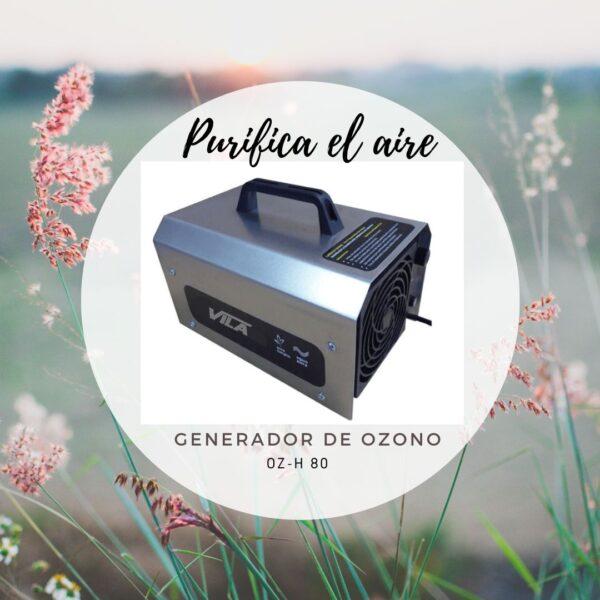 Elimina virus y purifica el aire esterilizándolo. Generador de ozono transportable, potente y robusto.