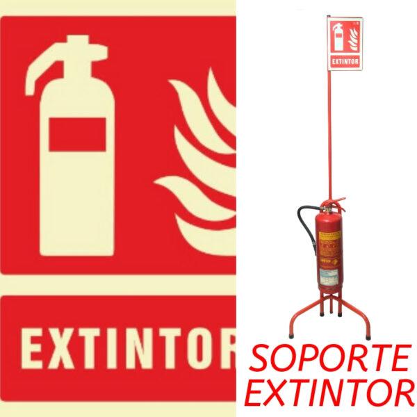 soporte para extintores