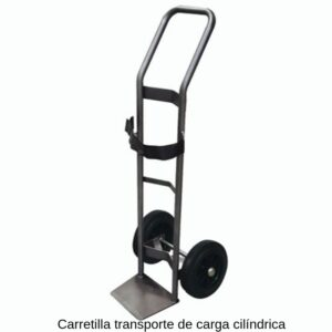 Carretilla transporte de carga cilíndrica