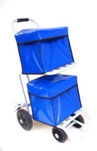 Carro reparto con postal con dos bandejas