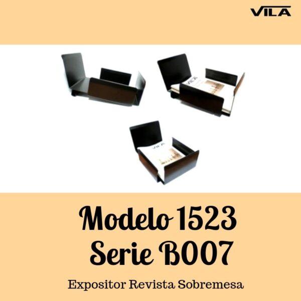 Expositor revista, expositor para negocio, expositor tienda, expositor revistas, Expositor revista sobremesa Modelo 1523 serie b007