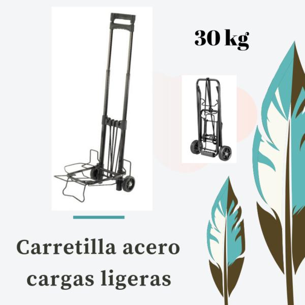carretilla acero plegable para carga de 30kg