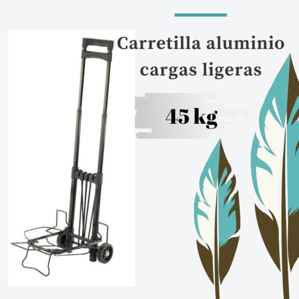 carretilla aluminio plegable para carga de 45kg
