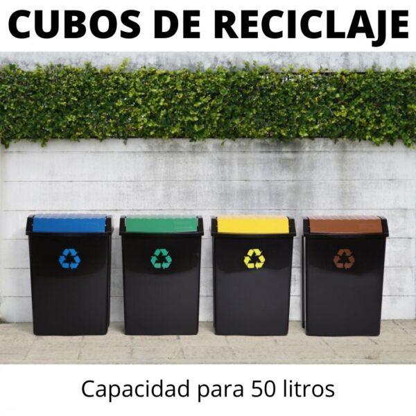 CUBO RECICLAJE CAPACIDAD 50 LITROS TATAY