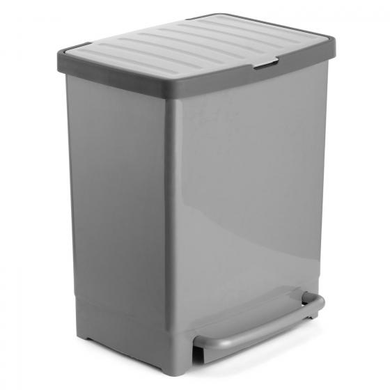 Cubo Pedal Reciclaje TATAY 30 l - Gris-