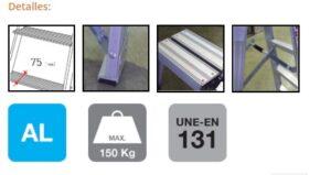 T-DAX - Escalera Tijera Doble Acceso DETALLES