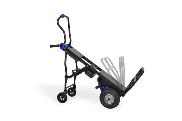 Carretilla posterior plegable para transportar mercancías horizontalmente