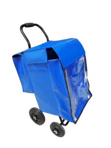 bolsa multibolsillo azul + carro pequeño